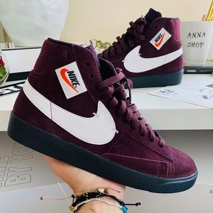 NWT Nike blazer mid rebel burgundy
